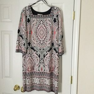 Studio One Dresses - Studio One Dress, Sz XL, embossed paisley pattern